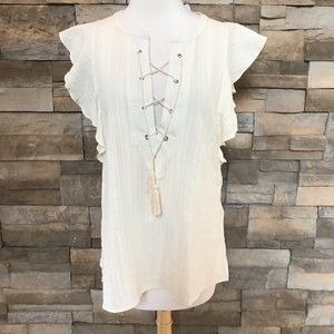 Listicle Ivory cotton top